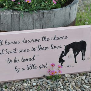 all horses little girl