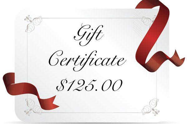 gift cert 125