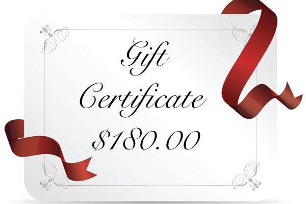 gift cert 180