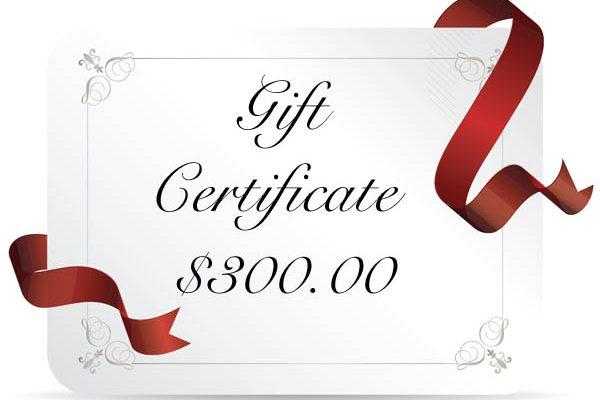 gift cert 300