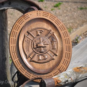 fire fighter crest crib board