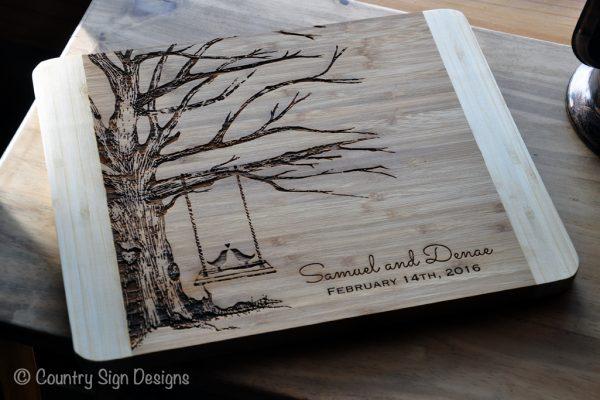 cutting board tree swing