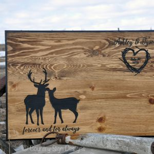 deer wedding guest book