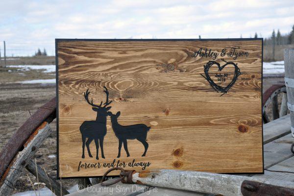 deer wedding guest book