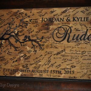 wedding guestbook sign