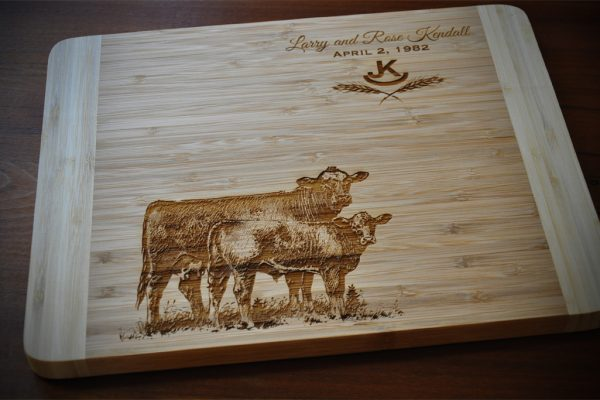 cows cutting board