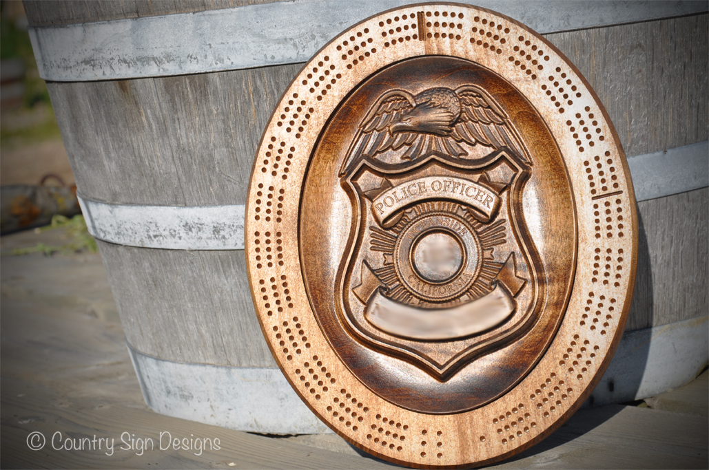 Police Badge Crib Board