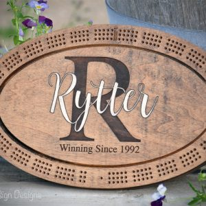 rytter monogram cribbage board