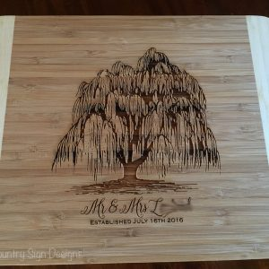 willow tree bamboo cutting board