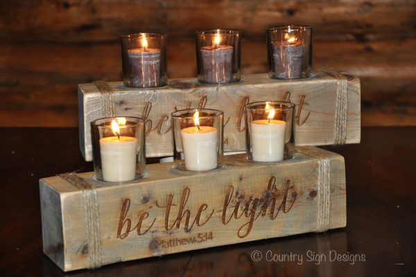 3 light candle holders