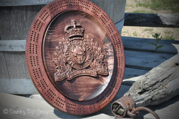 rcmp cribbage board