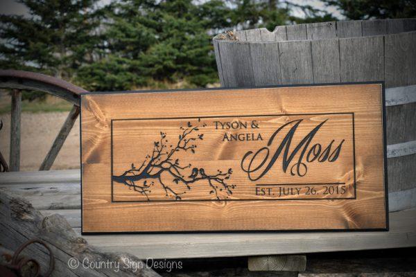 moss guest book sign