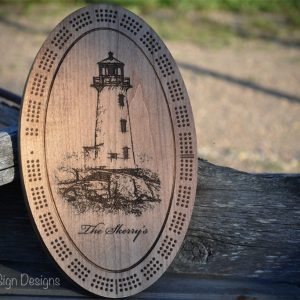 light-house-cribbage-board